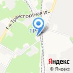 Новомосковская ГРЭС на карте Новомосковска