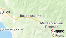 Гостиницы города Возрождение на карте