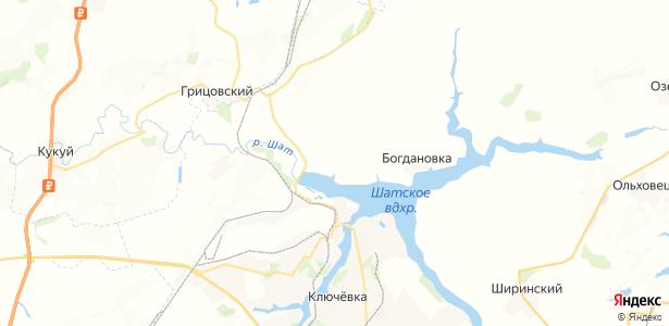 Прудки на карте