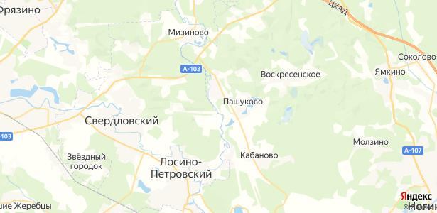 Пятково на карте