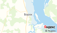 Отели города Борок на карте