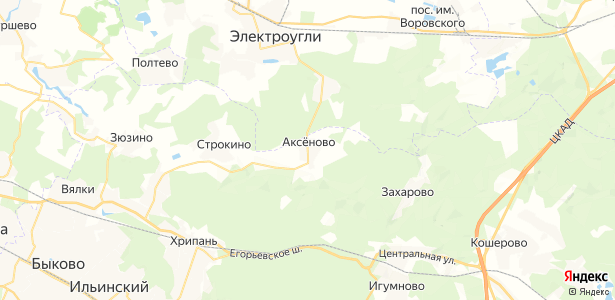 Аксеново на карте