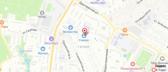 Карта расположения пункта доставки Раменское Гурьева в городе Раменское