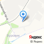 Сотос на карте Новомосковска