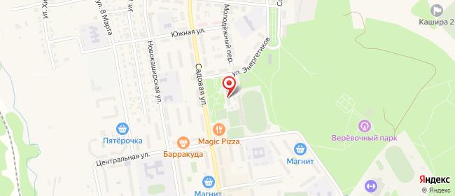 Карта расположения пункта доставки Ростелеком в городе Кашира