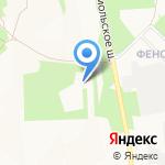 Вектор на карте Новомосковска
