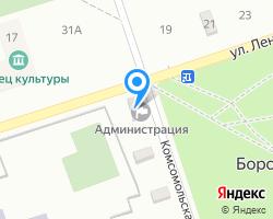 Схема местоположения почтового отделения 353893