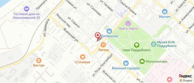 Карта расположения пункта доставки Билайн в городе Ейск