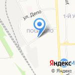 Киоск по продаже питьевой воды на карте Новомосковска
