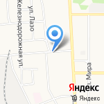 Микрорайон-Сервис на карте Новомосковска