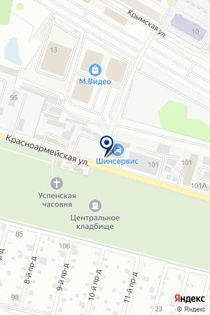 СТРОИТЕЛЬНЫЙ МАГАЗИН ПОДМОСКОВНАЯ УСАДЬБА на карте Красноармейска