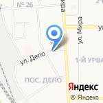 Новомосковск-4 на карте Новомосковска