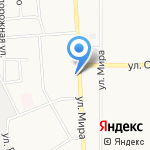 Киоск по ремонту обуви на карте Новомосковска