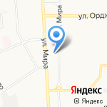 Автостоянка на карте Новомосковска