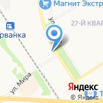 Семь огней на карте Новомосковска