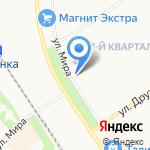 Десма на карте Новомосковска