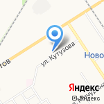 ЖЭУ №4 на карте Новомосковска