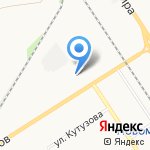 Новомосковская автошкола на карте Новомосковска