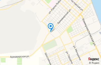 Местоположение на карте пункта техосмотра по адресу Краснодарский край, г Ейск, ул Армавирская, д 235А