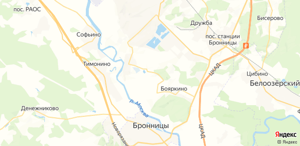 Белозериха на карте