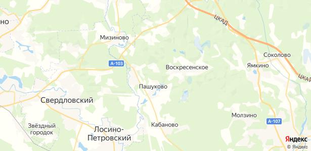 Воскресенское на карте