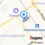 Экватор на карте Новомосковска