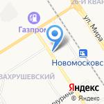 Березка на карте Новомосковска