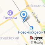 Золотая роза на карте Новомосковска