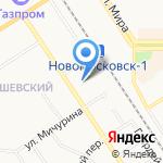 Гимназия №1 на карте Новомосковска