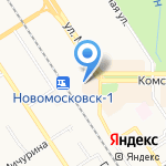 Киоск по продаже печатной продукции на карте Новомосковска