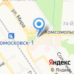 Эден на карте Новомосковска