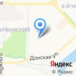 Домашний на карте Новомосковска