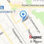 Альфа на карте Новомосковска