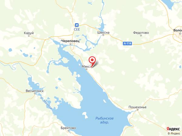 деревня Степанцево на карте
