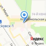 Роникс на карте Новомосковска