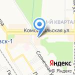 Солнышко на карте Новомосковска