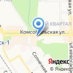 Магазин спецодежды на карте Новомосковска