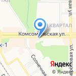 Отдел судебных приставов Новомосковского района на карте Новомосковска