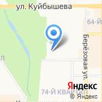 Магазин одежды на карте Новомосковска
