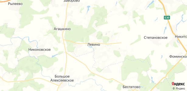 Левино на карте