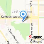 Детский сад №2 компенсирующего вида для детей с ограниченными возможностями здоровья на карте Новомосковска