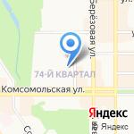 Дворец детского (юношеского) творчества на карте Новомосковска