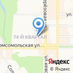 Сакура на карте Новомосковска