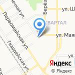 Аксеновский на карте Новомосковска