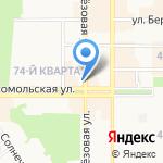 Магазин головных уборов на карте Новомосковска
