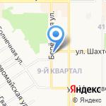 Автохром на карте Новомосковска