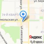 Бижаterra на карте Новомосковска