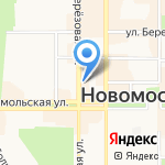 Грин на карте Новомосковска