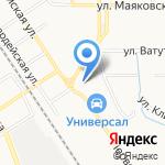 Шинный двор на карте Новомосковска