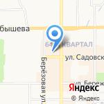 Дарион на карте Новомосковска